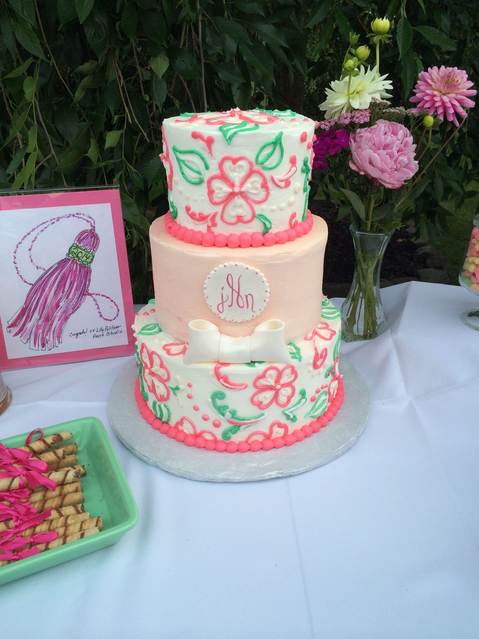 Lilly Pulitzer inspired cake Foodie Pinterest Cake Birthday