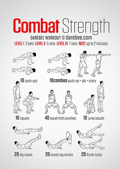 Combat Strength Workout   With Krav Maga, you'll get a