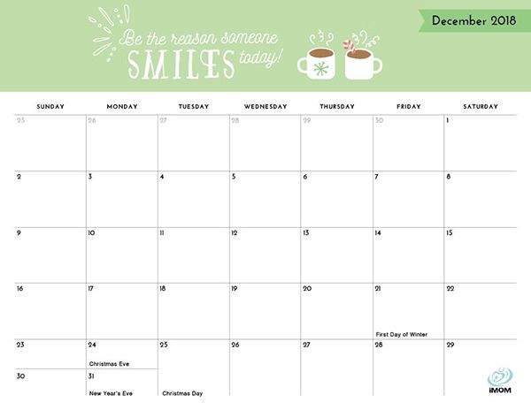 photo relating to Imom Printable Calendar titled Beneficial Head Printable 2019 Calendar No cost, Lovely
