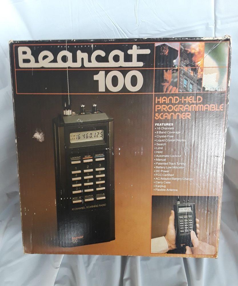 Uniden Bearcat 100 Vintage Handheld Police Fire Radio Scanner Works