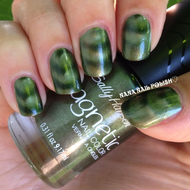 Sally Hansen Magnetic Electric Emerald With Images Nail