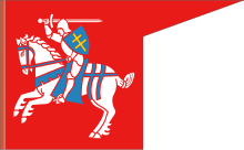 Battle flag with the Vytis, 1410, reconstruction.