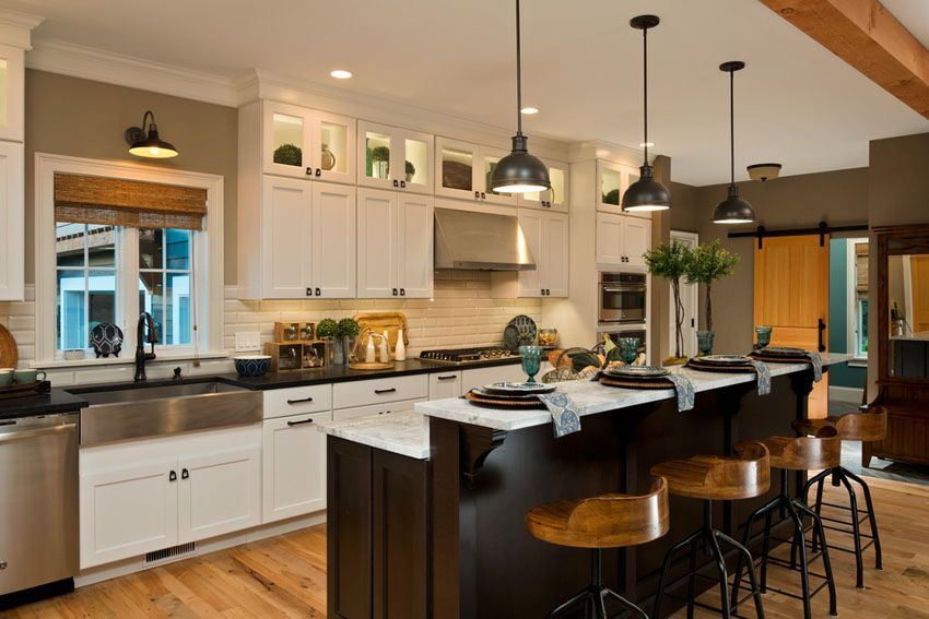 37 Craftsman Kitchens with Beautiful Cabinets | Craftsman ...