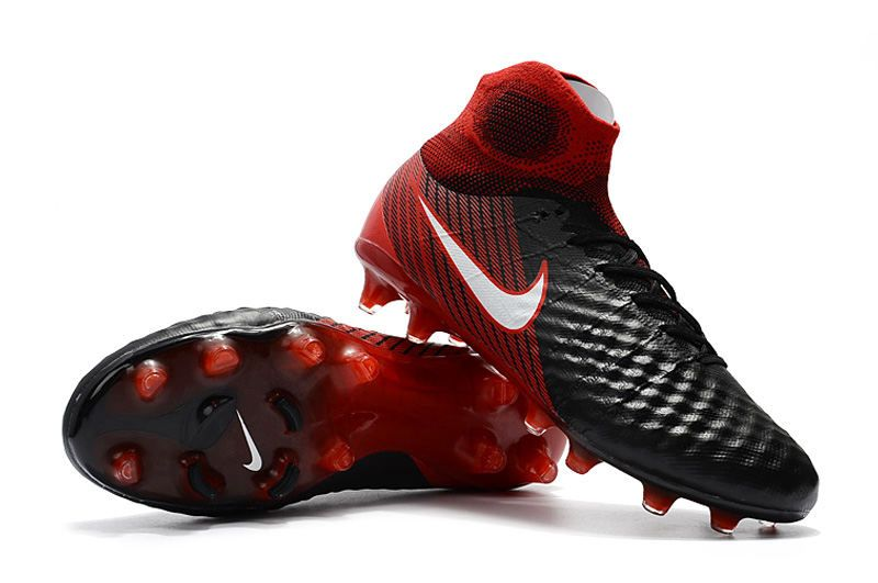 0a57a5cd8e37 Nike Magista Obra II FG Men Soccer Boots Black Crimson
