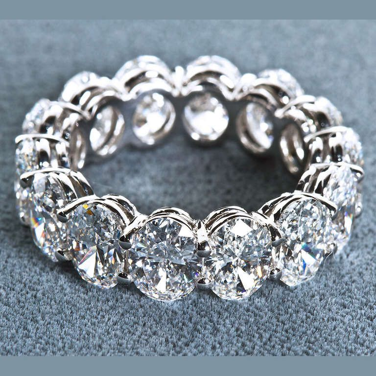 3f2fbb638a5987 Oval Shaped Diamond Eternity Band | From a unique collection of vintage band  rings at http