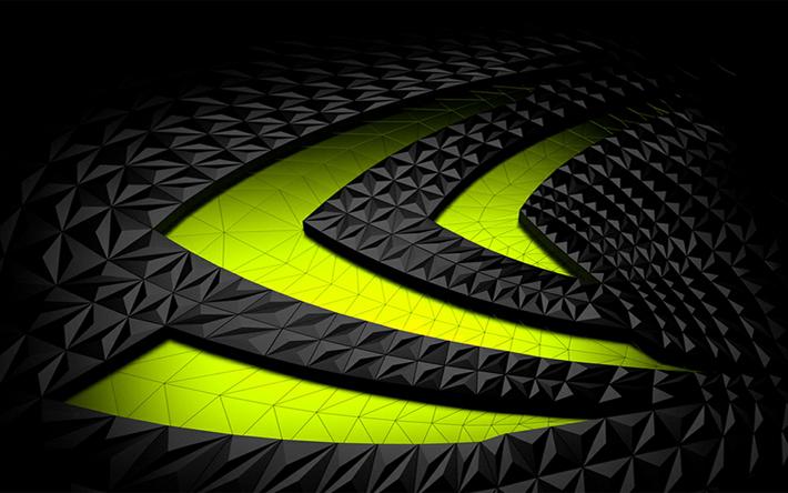 Indir Duvar Kağıdı Ati Neon Yeşil Amblemi Nvıdıa Logosu Siyah 3d