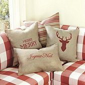Burlap Holiday Collection Pillow Cover