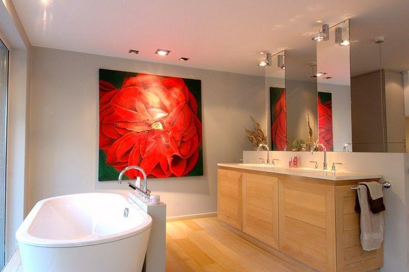 Salle de Bains Contemporaine - Mobilier de salle de bain en chêne