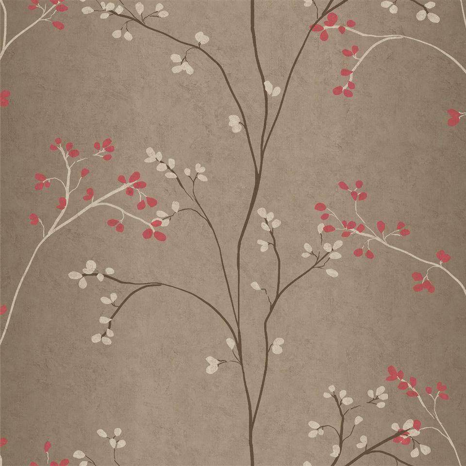 Cherry Blossom Wallpaper Americanblinds Com Branches Asian Pink Wall Art Decor Bedroom Victorian Wallpaper Striped Wallpaper