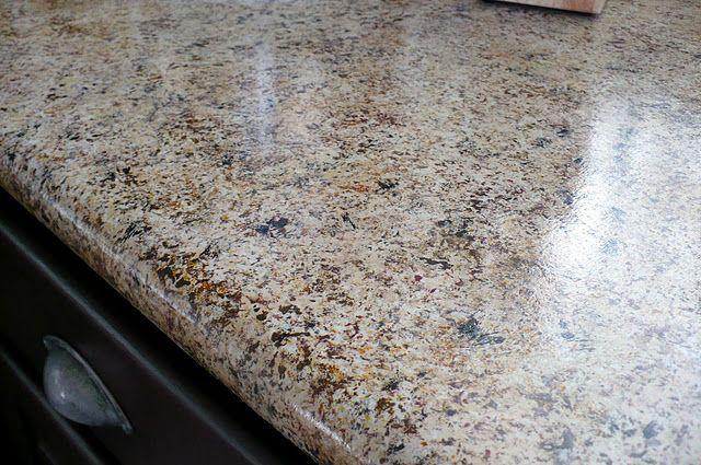 Diy Faux Granite Countertop For 20 Home Improvements Pinterest Granite Countertop