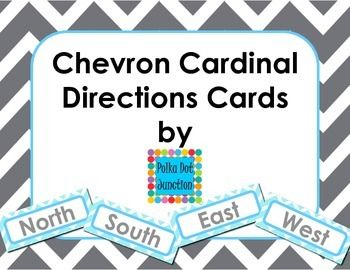FREE!!! Chevron Cardinal Direction Cards