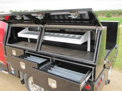 powder coated utility and service truck top mounted tool boxes for trailer and truck bed of tool boxes - Tool Box For Trucks