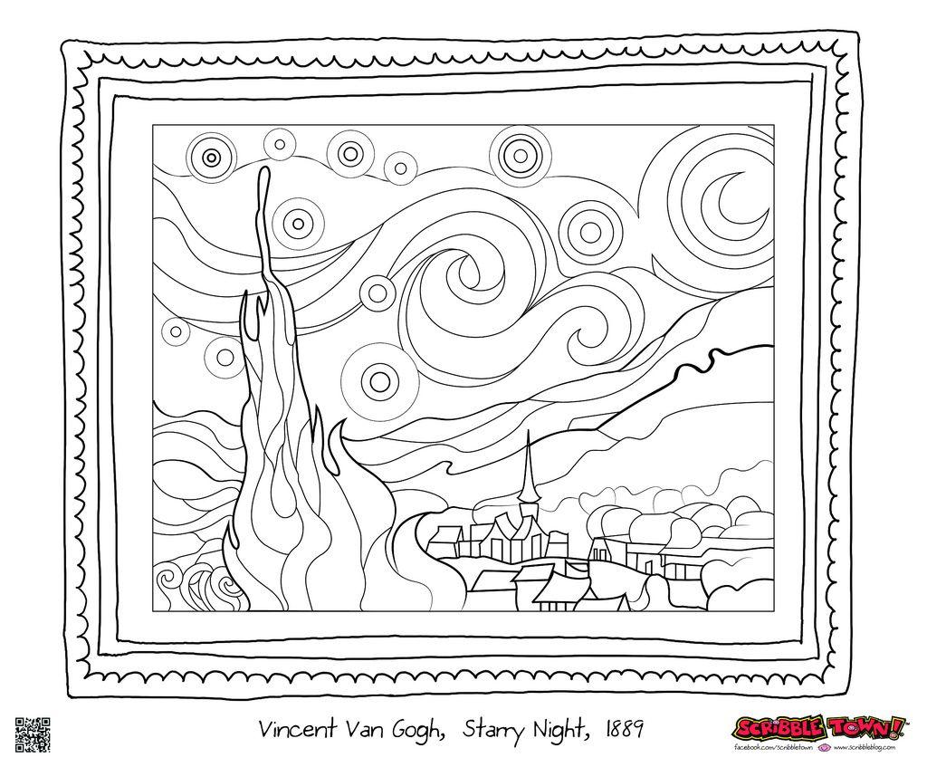 Printable coloring pages van gogh - Coloring Pages Starry Night Coloring Page Starry Night Coloring Page Eassume Com Eassume Vincent Van Goghs
