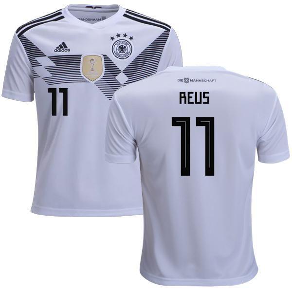 4817d1454b7 Men #11 Reus Jersey Home Germany National 2018 FIFA World Cup | 2018 ...