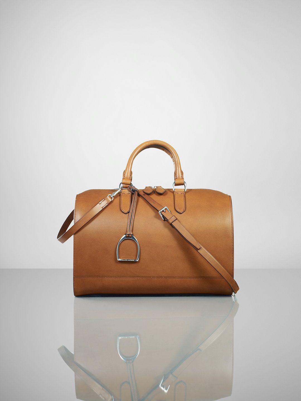 Vachetta Stirrup Boston Bag - Ralph Lauren Handbags Handbags -  RalphLauren.com