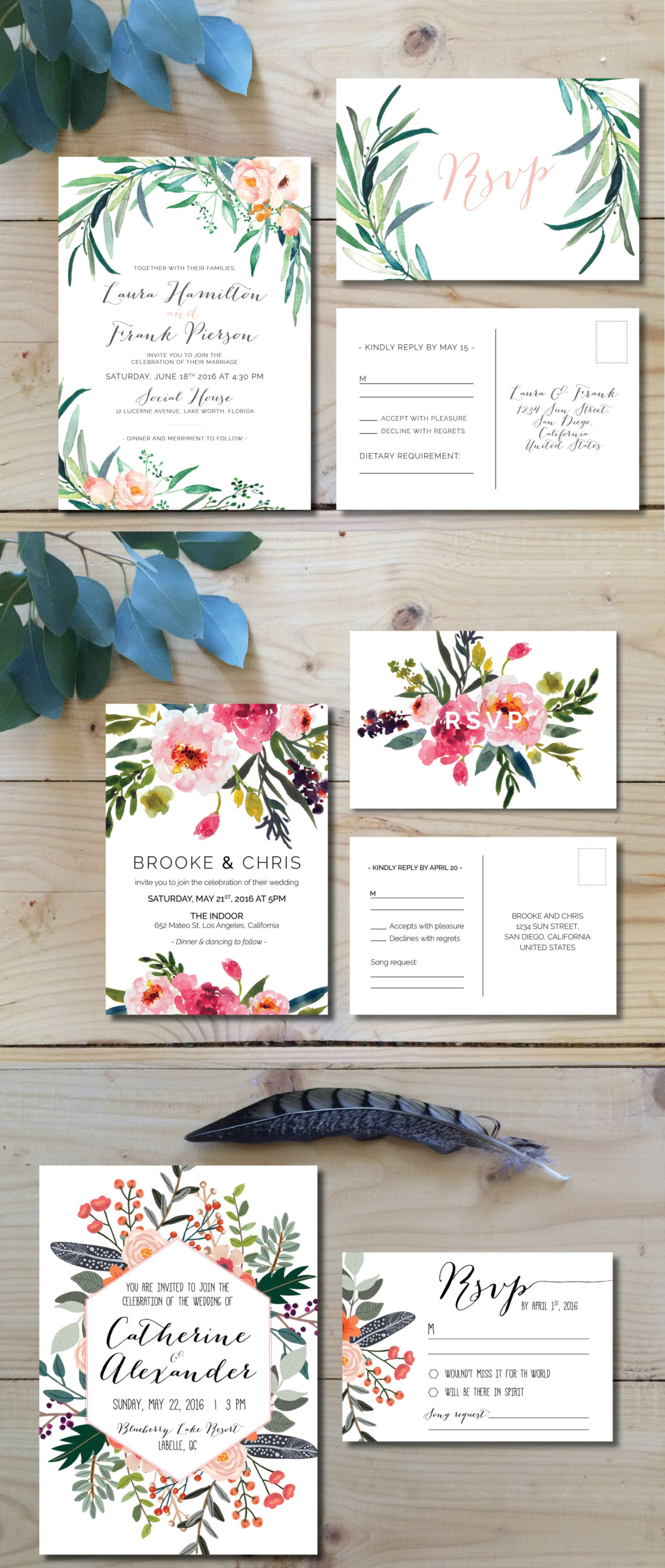 Top 5 Etsy shops for wedding invitations // Luxe & Honey | S+M 7-11 ...