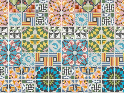 Tiles Wallpaper By Hanna Werning Pattern Wallpaper Tile Patterns Tile Wallpaper