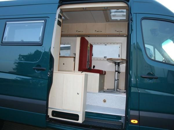 High Front Bench Seat In A Mercedes Sprinter 318cdi Camper