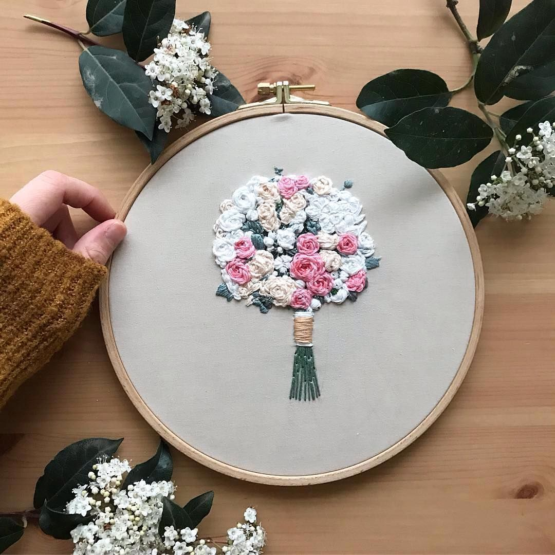 Bouquet embroidery by pastelzamanyolcusu embroidery pinterest