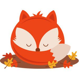 Fox sleeping. Fall cute clipart cumplea