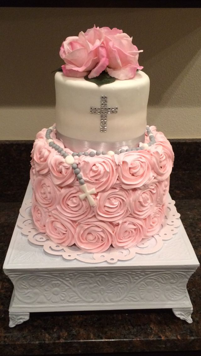 Baptismal Or First Communion Cake For Girl First Communion Cakes