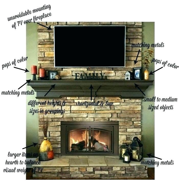 Fireplace Mantel With Tv Above Decorating Ideas For Over Fireplace