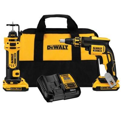 DEWALT 20-Volt Max Lithium-Ion Cordless Combo Kit (2-Tool) $279.00 #BestPrice