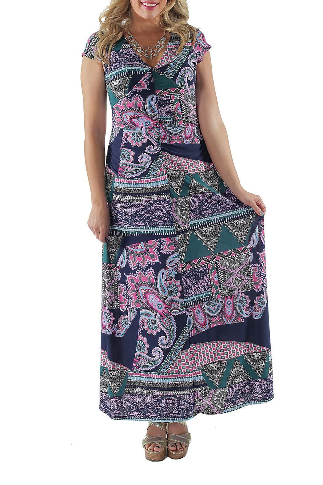 comfort apparel paisley maxi dress maxi dresses red purple