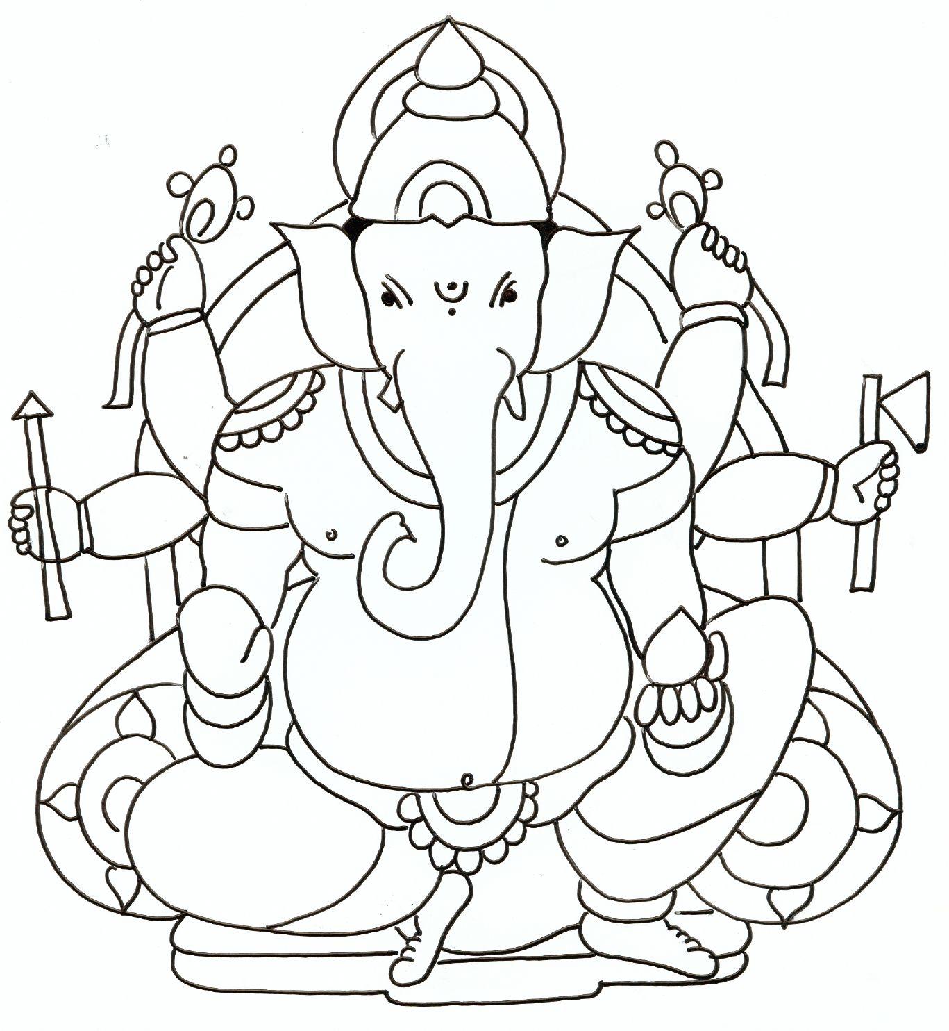 Pencil Art Of Ganesha Photo