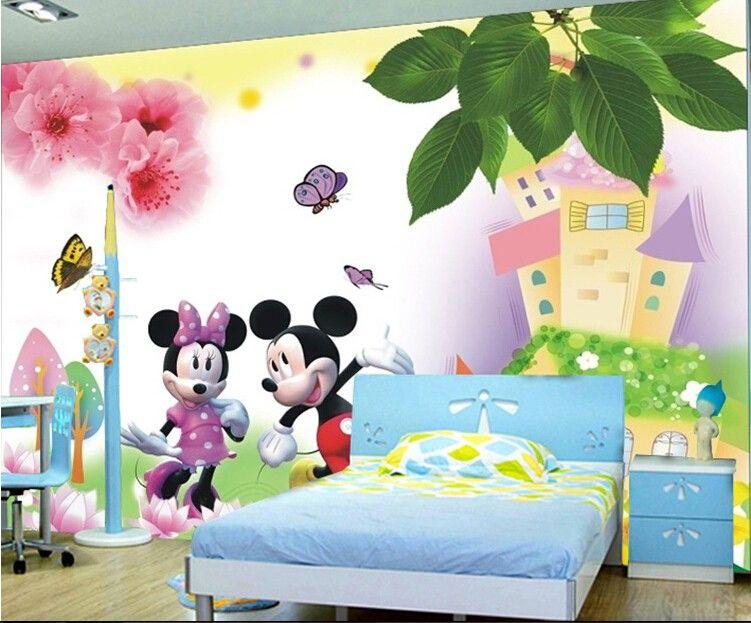 Cheap Puede Personalizado Sueno De Dibujos Animados Animal Cuento De Hadas Girly Sala Infantil De Gran Mura Papel Pintado Para Paredes Pegatinas De Pared Mural