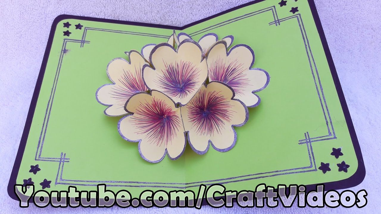 How To Make 3d Flower Pop Up Card Pop Up Flower Greeting Cards