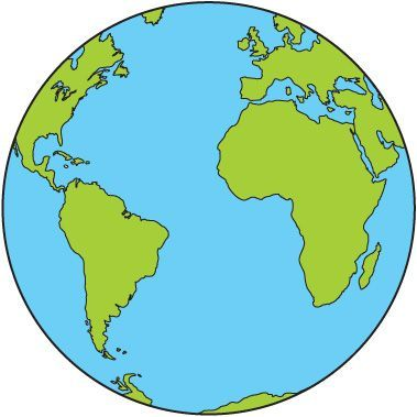 Globe Clip Art To Free Download Boyama Sayfalari Cocuklar Icin