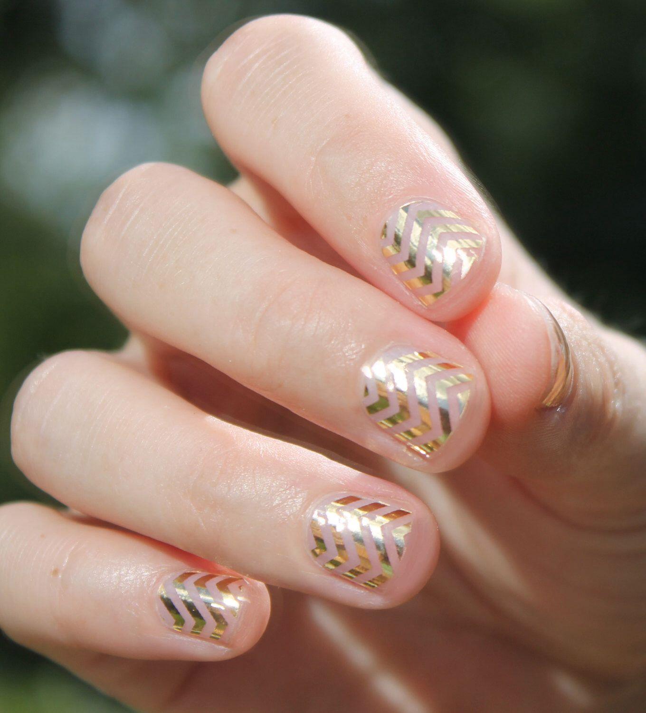 Gold Chevron Nail Wraps   Pinterest   Nail wraps, Wraps and Gold