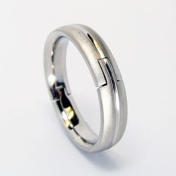 Palladium Hand Made Hinged Ring