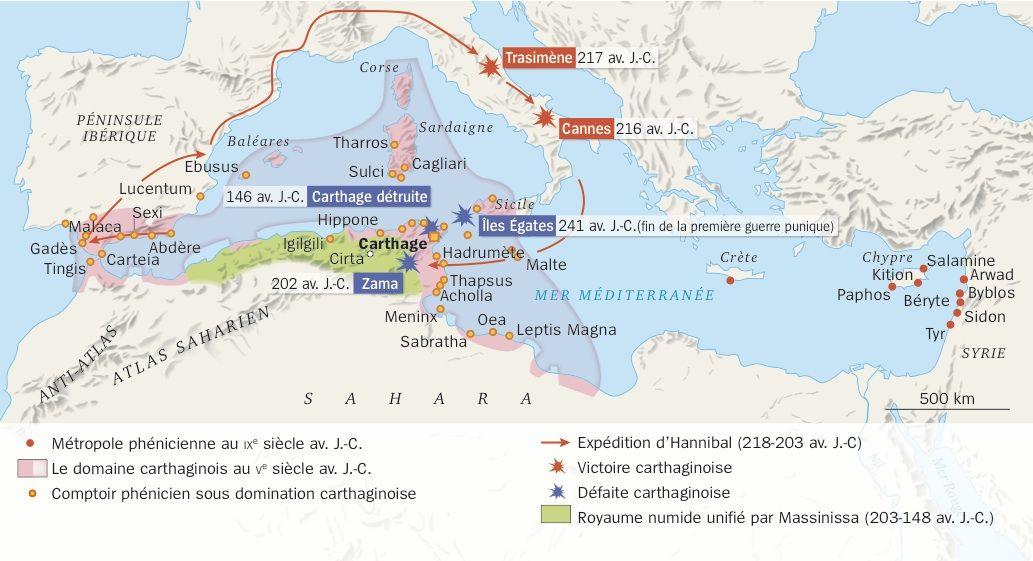 Carte Carthage Du Comptoir A La Puissance Commerciale
