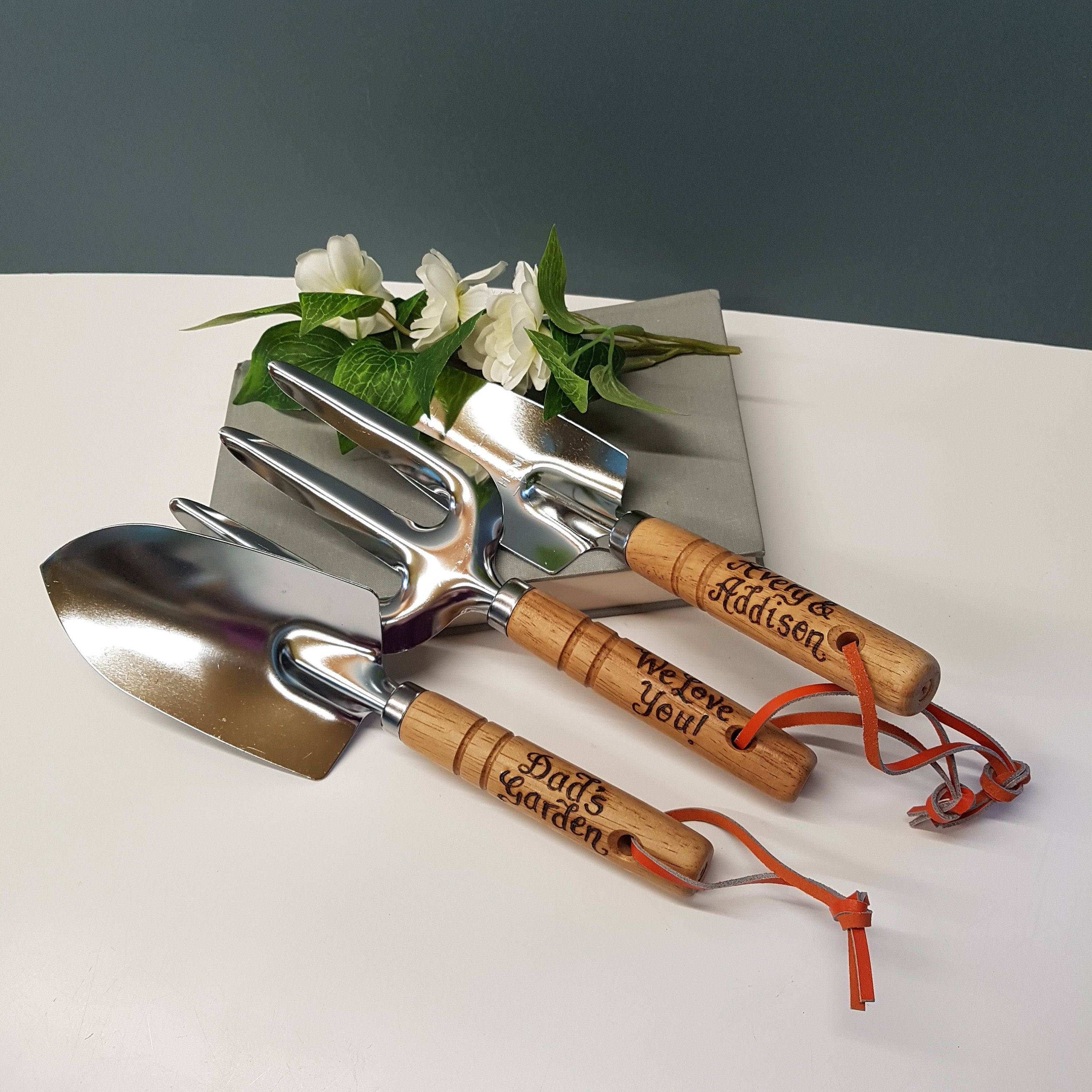 Personalised Garden Tools, Gardening Gift for Daddy