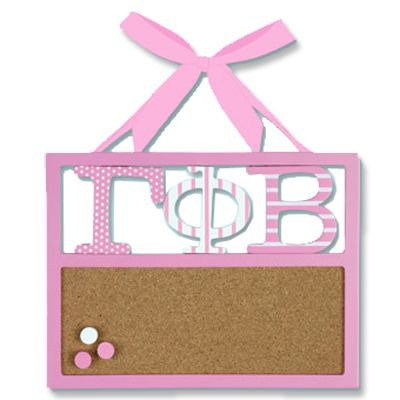 Gamma Phi Beta Sorority Corkboard $19.95