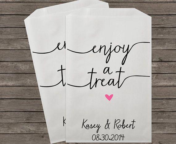 $50/per 100 - Wedding Candy Buffet Bags, Candy Bar Bags, Wedding Candy Favor Bags, Personalized Wedding Favor Bags, Treat Bags, Favor Bags, Kraft 091