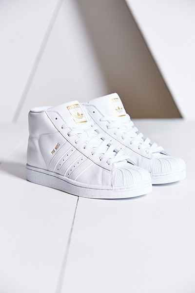 adidas high top all white
