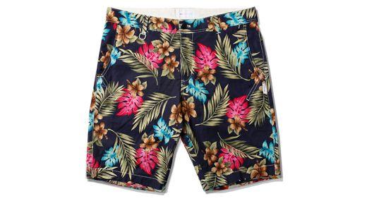 Liful - Flower Half Pants Navy