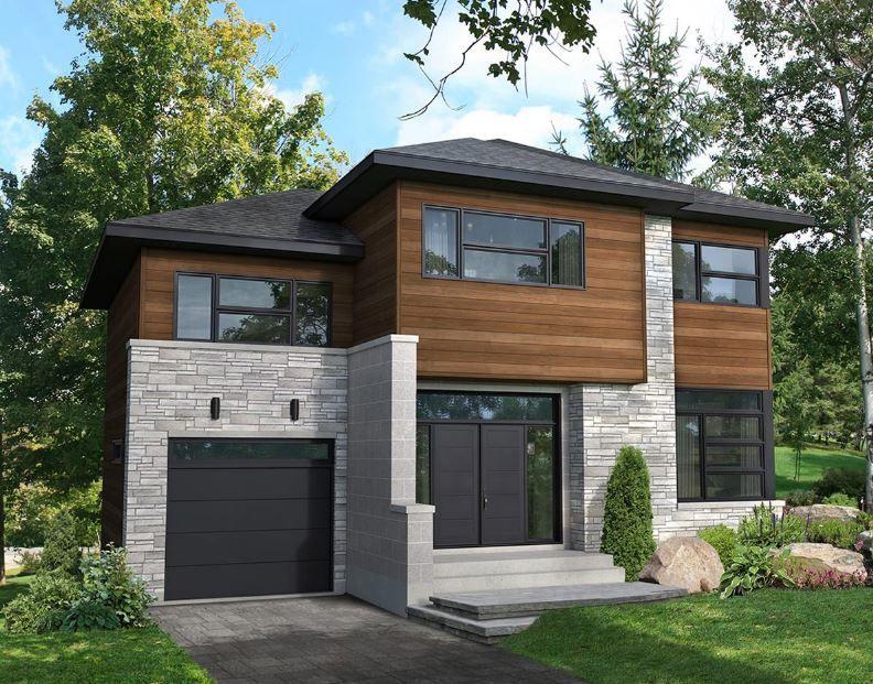 Planos de viviendas decoracion de cuartos maison etage for Fachadas viviendas modernas