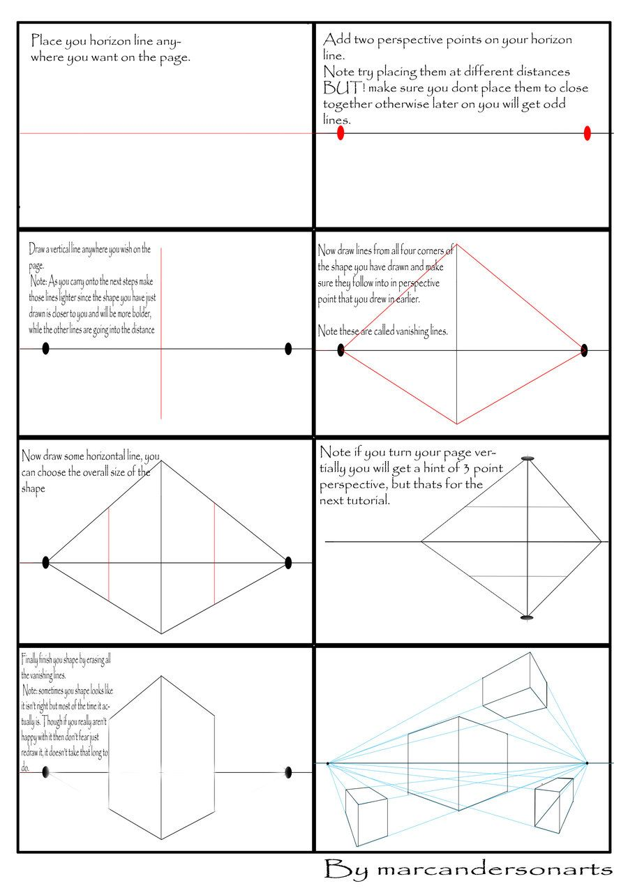 It's just a picture of Canny 2 Point Perspective Drawing Tutorial