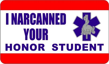 Emergency stuff dinosaurs of ems i narcanned your honor student bumper sticker