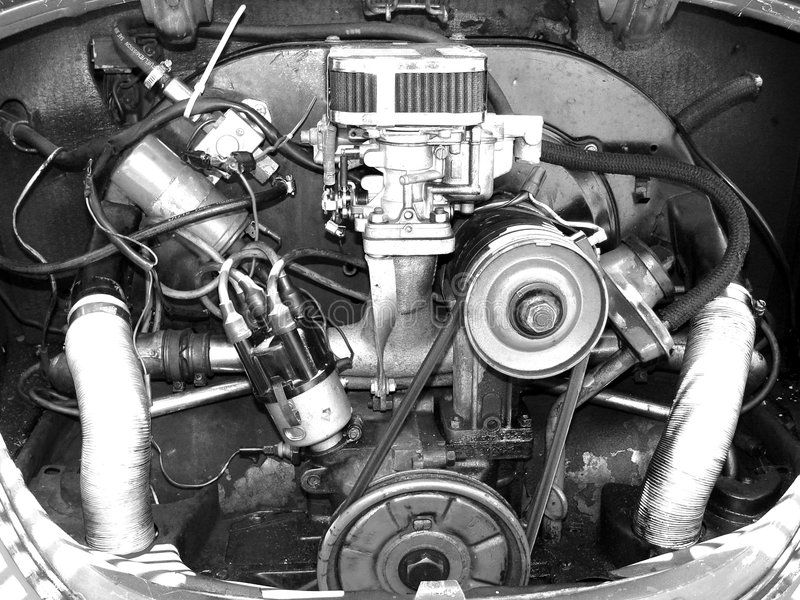 Motor. 1600 cc Four cylinder air cooled engine ,