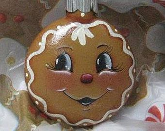 Christmas Gingerbread Ornament Decoration by FannyMayberry on Etsy