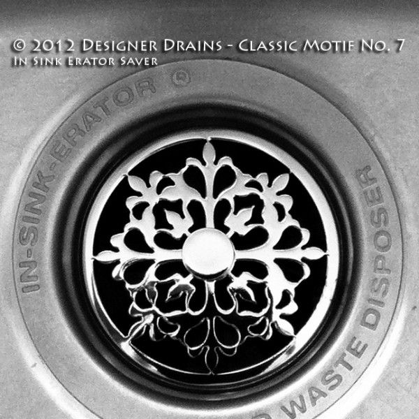 """Photo of """"Jewelry For Your Sink"""" – Classic Motif #7 – Kitchen Sink Stopper 
