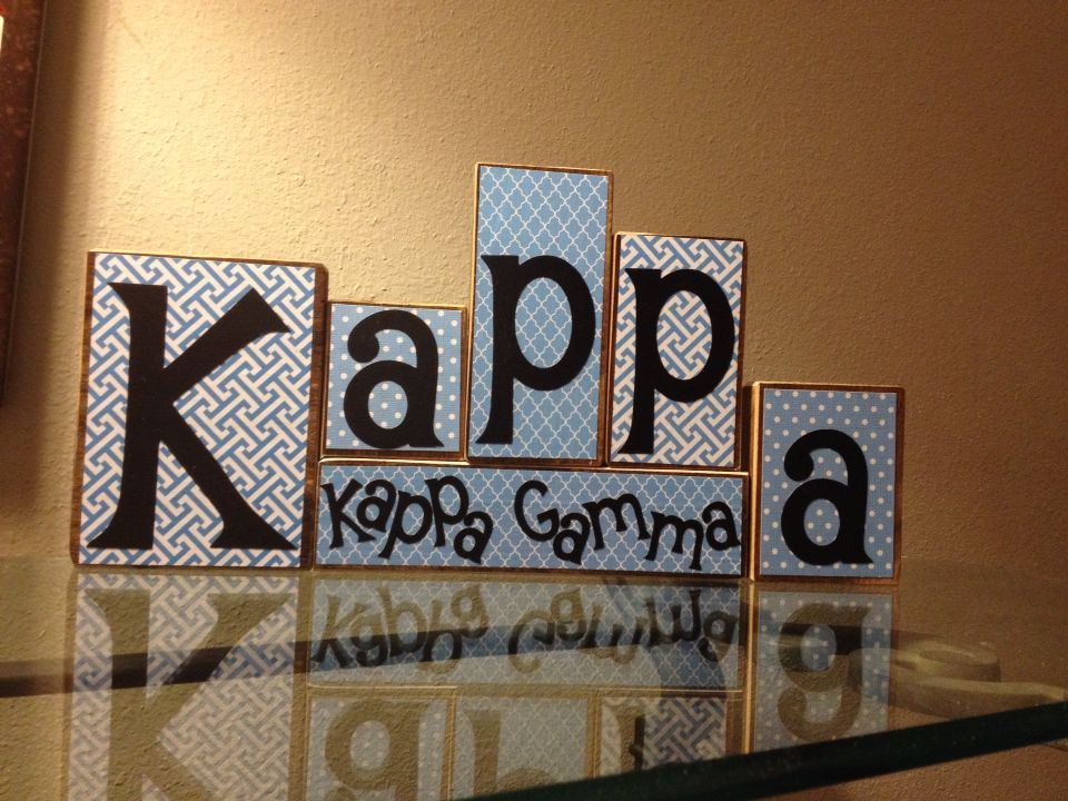 Kappa Kappa Gamma blocks Boards by Kelly on etsy