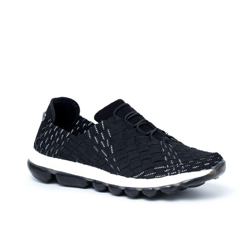 GUMMIES VICTORIA BLACK SILVER chaussures de sport en toile