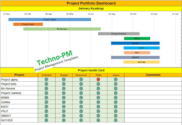 project portfolio management template excel project. Black Bedroom Furniture Sets. Home Design Ideas