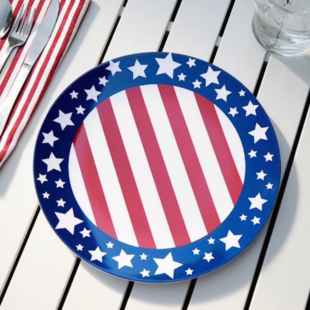Yankee Doodle Dandy Dinner Plates Set Of 12 Patriotic Dinnerware Holiday July 4 #BirchLane  sc 1 st  Pinterest & Yankee Doodle Dandy Dinner Plates Set Of 12 Patriotic Dinnerware ...